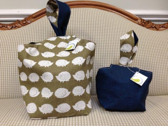 Original Binkwaffle Reversible Dumpling Bag for Knitting Crochet BUFFALO CHECK or As a Purse Small