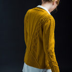 "Intricately Cabled Cardigan: Norah Gaughan's ""Geiger"" (Section A)"