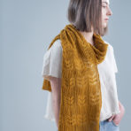 Twisted Rib and Lace: Ensata Scarf & Cowl