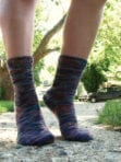 Toe-up, Two-at-a-Time, Magic Loop Socks (March)